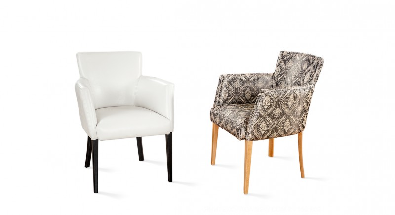 Upholstered armchair LOBI