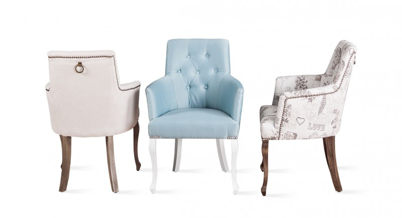Upholstered armchair LUX