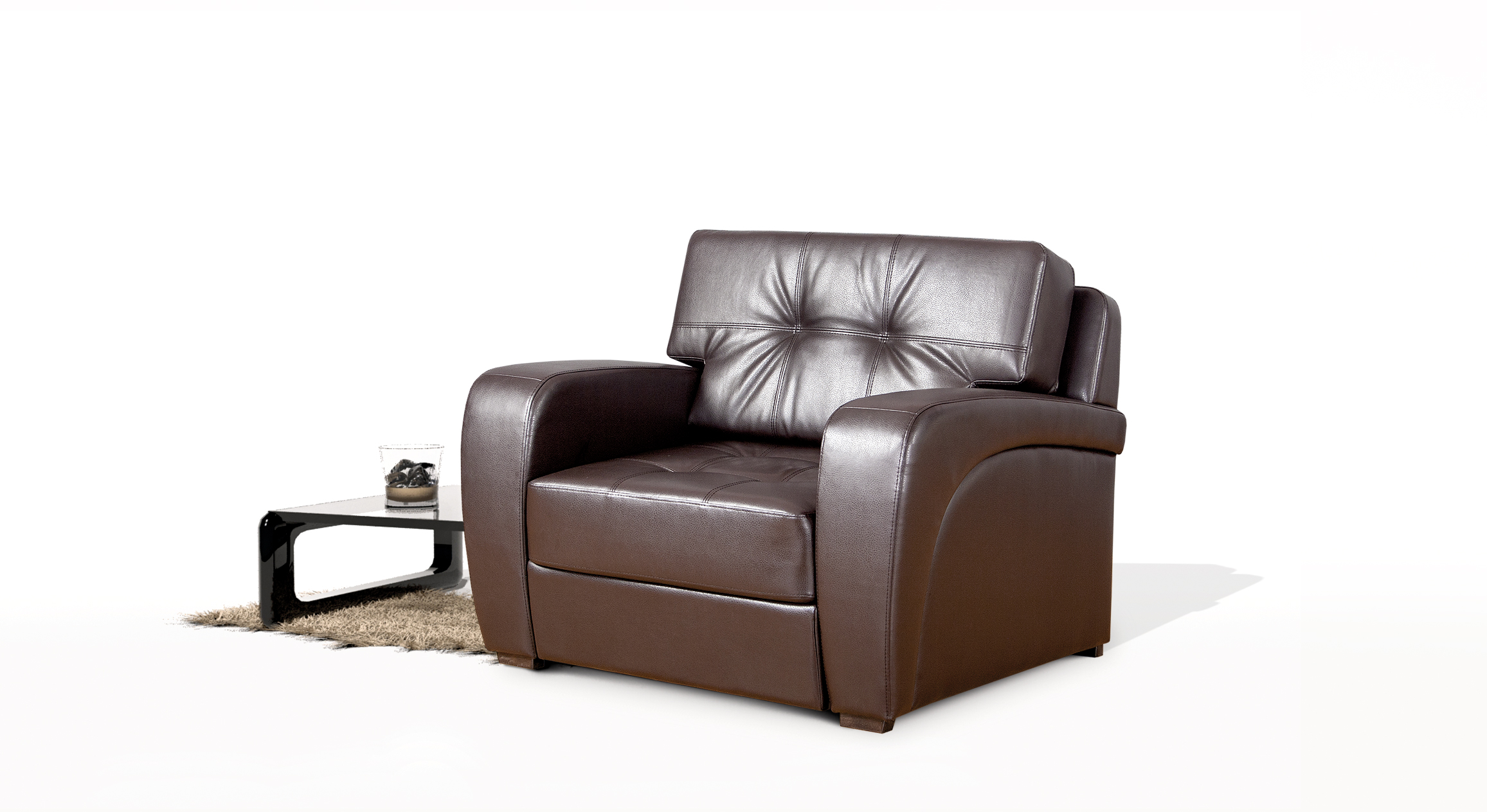 Extendable armchair quot president quot standard sofas by rudi an
